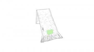 GRABACIÓN TRANSFER SERIGRÁFICO-En el extremo del foulard