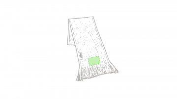 Bordado P-En el extremo del foulard