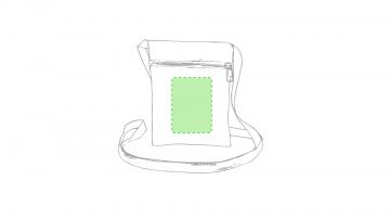 Impresión E-Centrado debajo de la cremallera