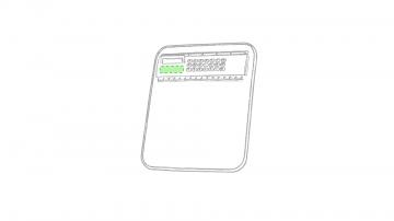 Impresión E-Bajo la pantalla de la calculadora