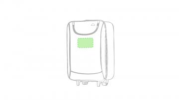 Impresión K-Debajo de la cremallera del bolsillo