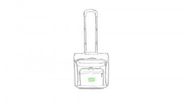 Impresión K-Bolsillo frontal bajo cremallera